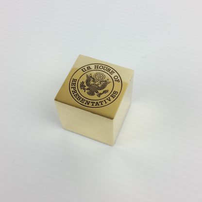 US Congress House Representatives Political Memorabilia Heavy Brass Paperweight