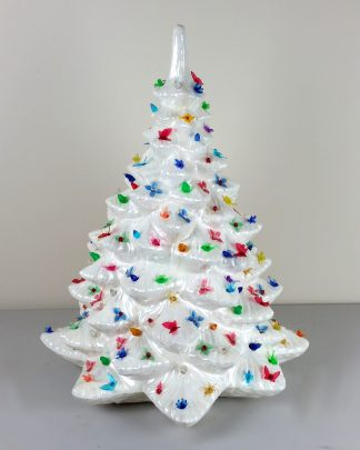 Extra Large White Ceramic Christmas Tree Provincial Mold Atlantic Mold