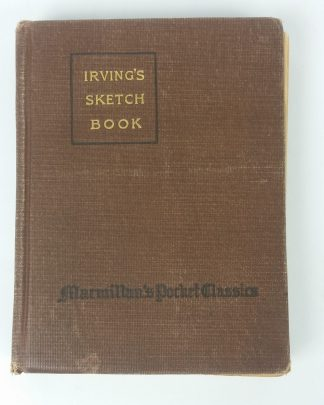 Antique Washington Irving's Sketch Book Sleepy Hallow Rip Van Winkle 1917 Hardcover