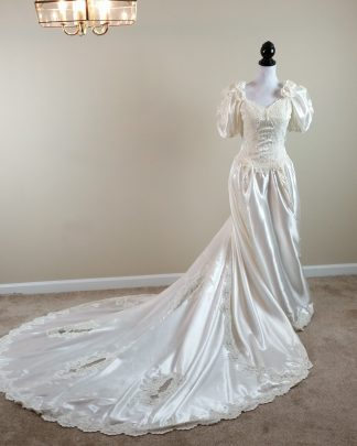Ivory Wedding Dress Bridal Ball Gown Sweetheart Gowns Size 8