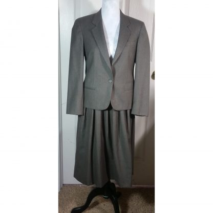 Vintage Austin Reed Womens Wool Brown Tailored Suit Skirt Jacket Vtg 70s Sz 4 Small