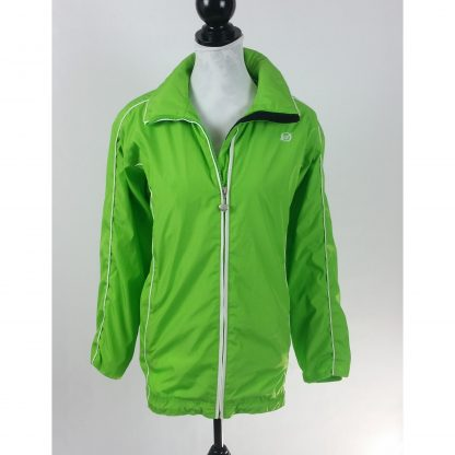 Obermeyer Womens Ski Jacket Lightweight Green Hooded Windbreaker Size 8