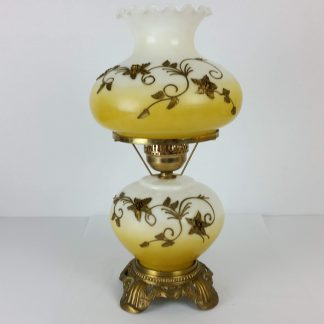 Gone With the Wind GWTW Hurricane Lamp Raised Flowers 3 Way Outstanding