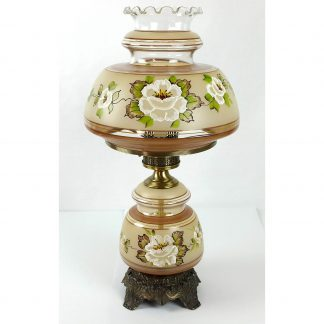 """Huge Vintage GWTW 27"""" Hurricane Lamp 3 Way Gone With The Wind STUNNING!"""