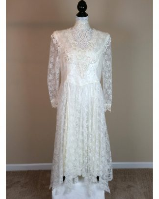Jessica McClintock Gunne Sax Vintage 80s Wedding Dress