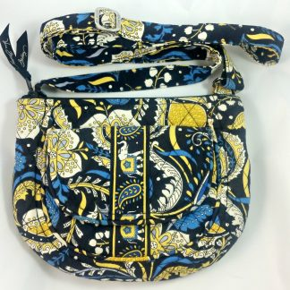 Vera Bradley Saddle Crossover Hipster Ellie Blue Elephant