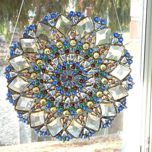 Stained Glass Art Window Panel