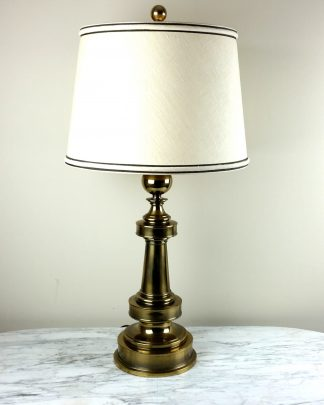 "TALL Vintage Brass Stiffel Lamp Trophy Original Stiffel Shade Mid Century 33"" EXCELLENT"