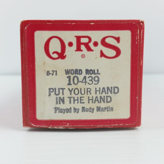 Put Your Hand in the Hand QRS 10-439 Anne Murray Vintage Player Piano Roll