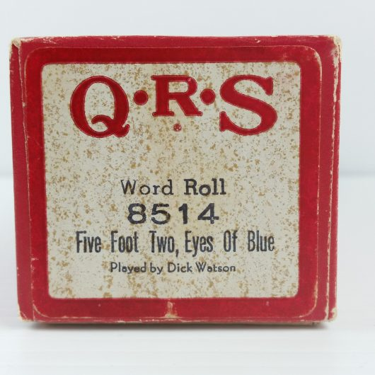 QRS 8514 Player Piano Roll Five Foot Two Eyes of Blue Has Anybody Seen My Gal
