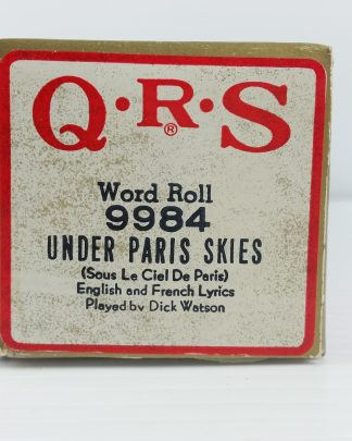 Under Paris Skies QRS Player Piano Roll 9984