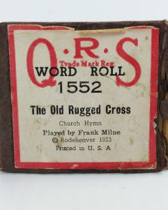 QRS Player Piano Roll 1552 OLD RUGGED CROSS 1913 Church Hymn Frank Milne 1552
