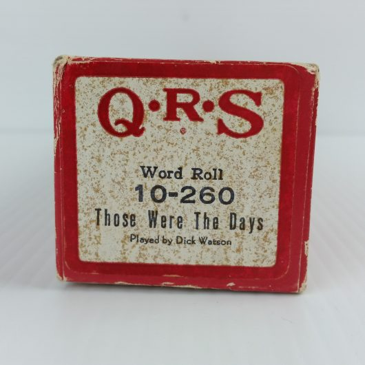 QRS Player Piano Roll THOSE WERE THE DAYS 10-260 Dick Watson
