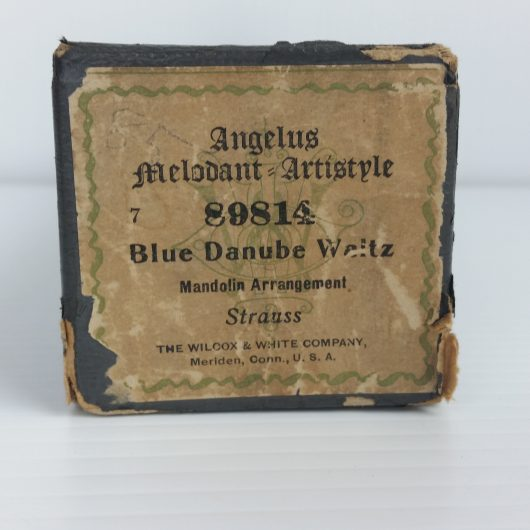 Angelus Melodant Artistyle Player Piano Roll 89814 Blue Danube Waltz Mandolin Arrangement Strauss 88 Note