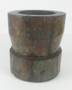 Vintage Primitive Tibetan Grinding Bowl Planter Folk Art